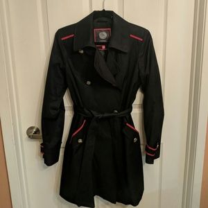 Vince Camuto Double Breasted Raincoat Trench Coat